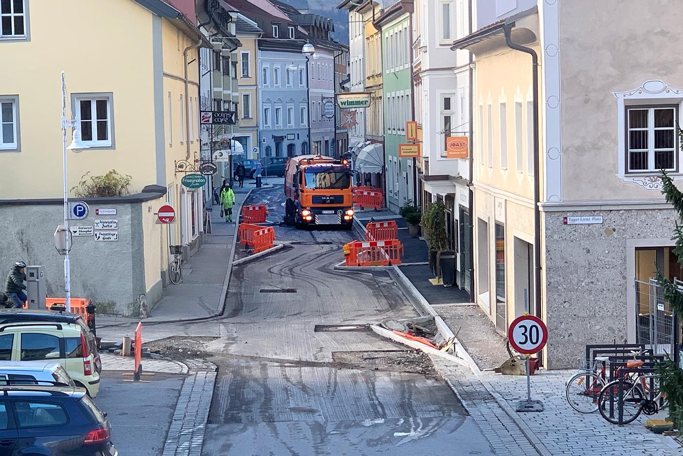 2c2dc4fbdb8313 Kurz vor dem Abschluss stehen die Umbauarbeiten in der Lienzer  Schweizergasse. Foto  Dolomitenstadt Pirkner