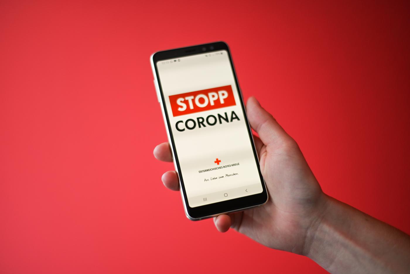 Eine Risikobegegnung Corona App